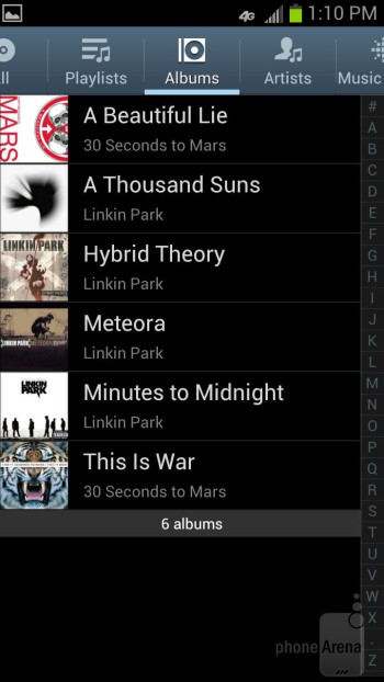 The music player - Samsung Galaxy S III Review (AT&T, Verizon, T-Mobile, Sprint)