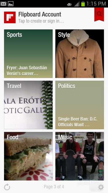 Flipboard - Preloaded apps on the Samsung Galaxy S III - Samsung Galaxy S III Review (AT&T, Verizon, T-Mobile, Sprint)