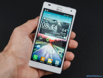 "The LG Optimus 4X HD lies pretty well in the hand for a slab with a 4.7"" screen - LG Optimus 4X HD Review"