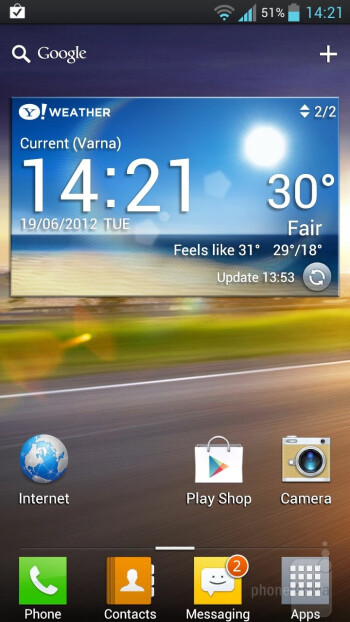LG  Optimus UI is layered on top of Android 4.0 on the LG Optimus 4X HD - LG Optimus 4X HD vs Samsung Galaxy S III