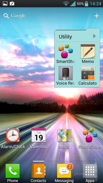 LG Optimus UI is layered on top of Android 4.0 on the LG Optimus 4X HD - LG Optimus 4X HD Review