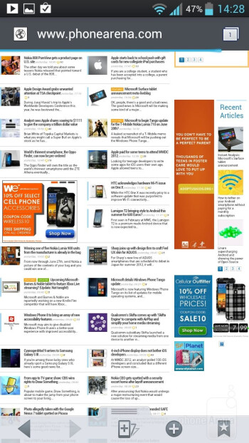 The browser on the LG Optimus 4X HD is very smooth - LG Optimus 4X HD Review
