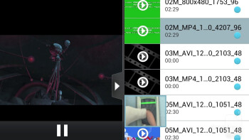 Video playback on the LG Optimus 4X HD - LG Optimus 4X HD vs Apple iPhone 4S