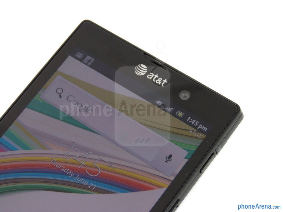 The 1-megapixel front facing camera - Sony Xperia ion Review