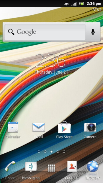 Sony Xperia ion is running the UXP NXT interface on top of Android 2.3.7 Gingerbread - Sony Xperia ion Review