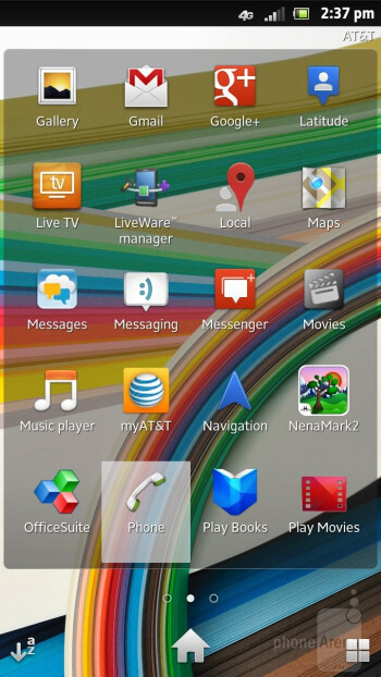 Sony Xperia ion is running the UXP NXT interface on top of Android 2.3.7 Gingerbread - Sony Xperia ion vs HTC One X