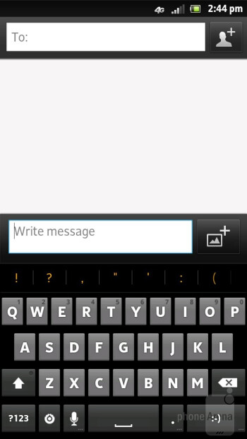 The on-screen keyboard options - Sony Xperia ion Review