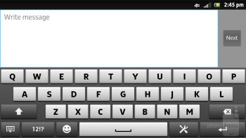 The on-screen keyboards of the Sony Xperia ion - Sony Xperia ion vs HTC One X