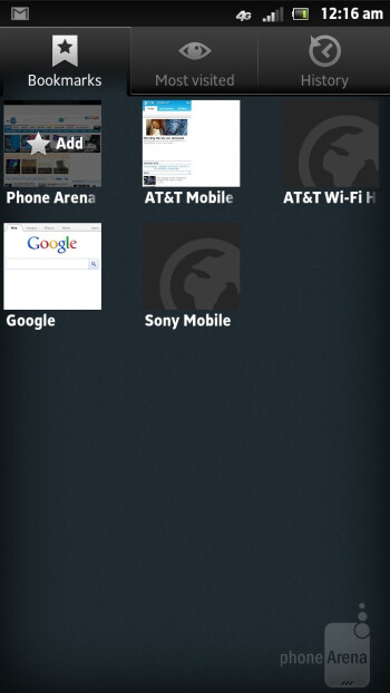 Browsing the web with Sony Xperia ion - Sony Xperia ion vs LG Nitro HD
