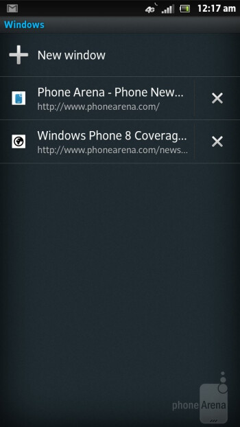 Browsing the web with Sony Xperia ion - Sony Xperia ion vs HTC One X