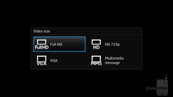 The camera interface of Sony Xperia ion - Sony Xperia ion vs HTC One X