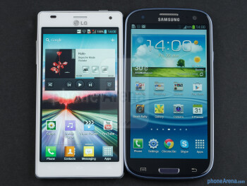 The Samsung Galaxy S III sports a slightly bigger display - LG Optimus 4X HD vs Samsung Galaxy S III