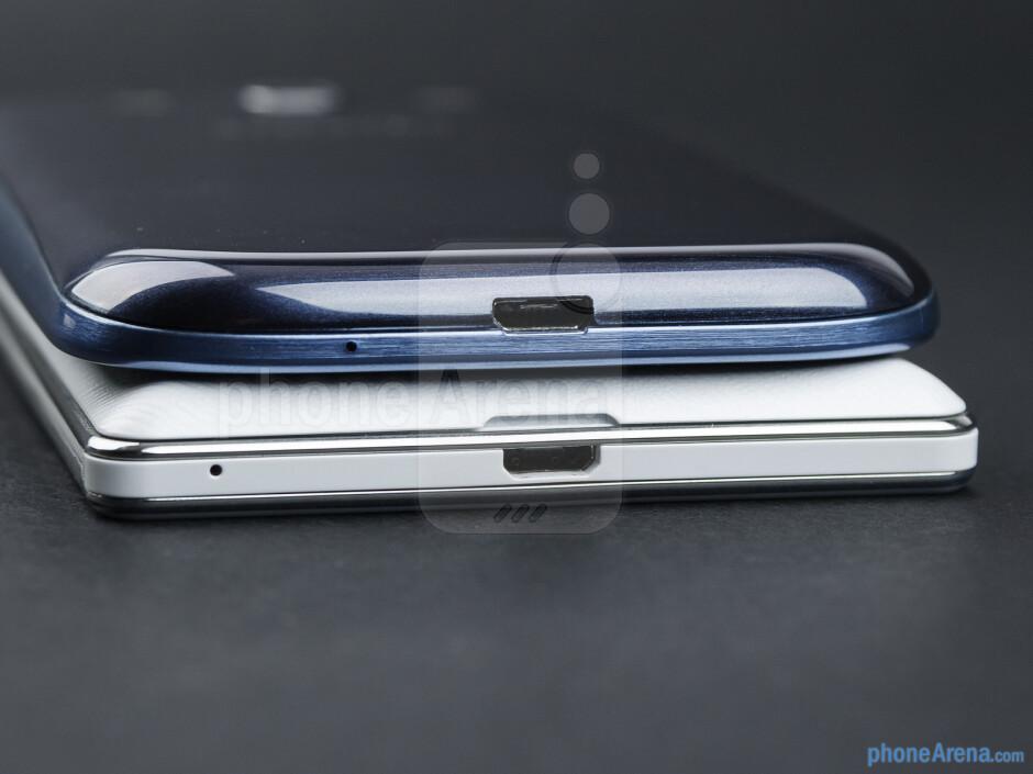 Bottom - The LG Optimus 4X HD (bottom) and the Samsung Galaxy S III (top) - LG Optimus 4X HD vs Samsung Galaxy S III