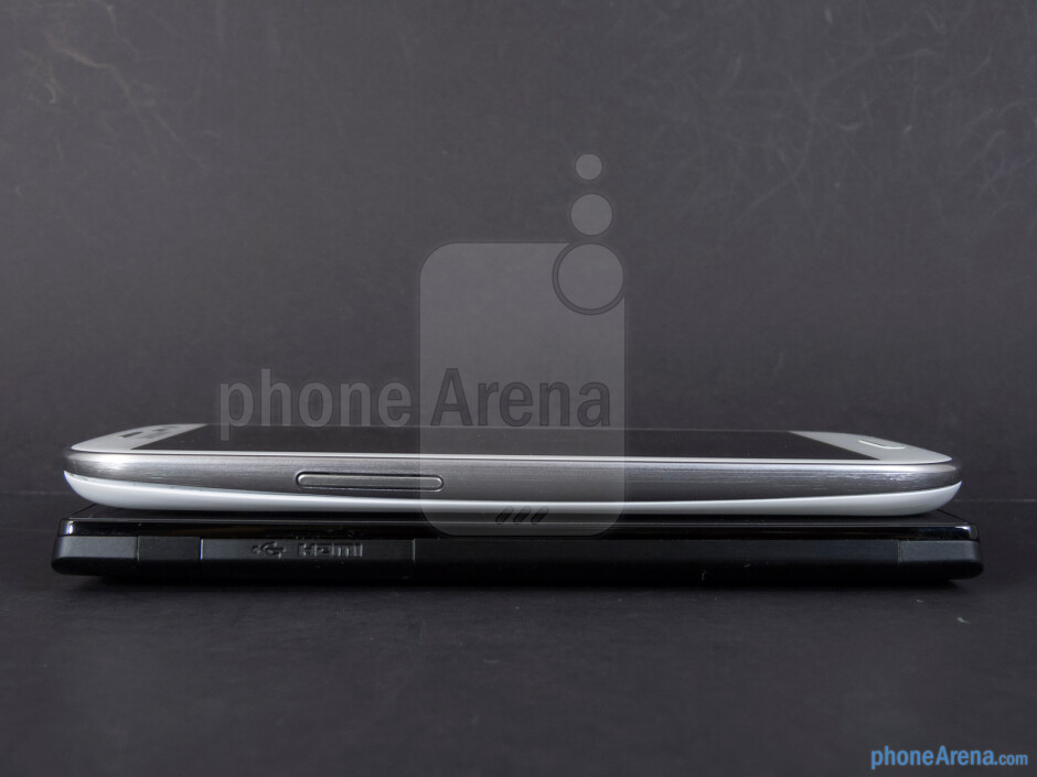 Left - The Sony Xperia ion (left, bottom) and the Samsung Galaxy S III (right, top) - Sony Xperia ion vs Samsung Galaxy S III