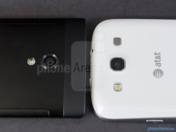 Rear cameras - The Sony Xperia ion (left) and the Samsung Galaxy S III (right) - Sony Xperia ion vs Samsung Galaxy S III