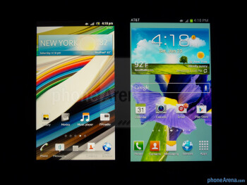 The Sony Xperia ion (left) and the Samsung Galaxy S III (right) - Sony Xperia ion vs Samsung Galaxy S III