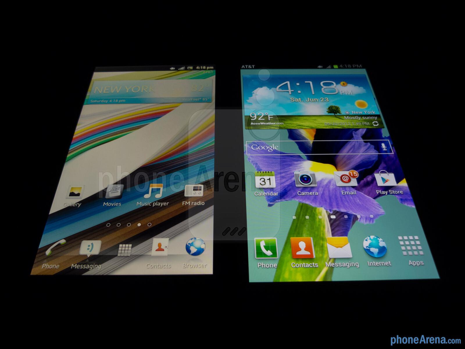 Samsung Galaxy S III Right Sony Xperia Ion Vs Samsung Galaxy S III