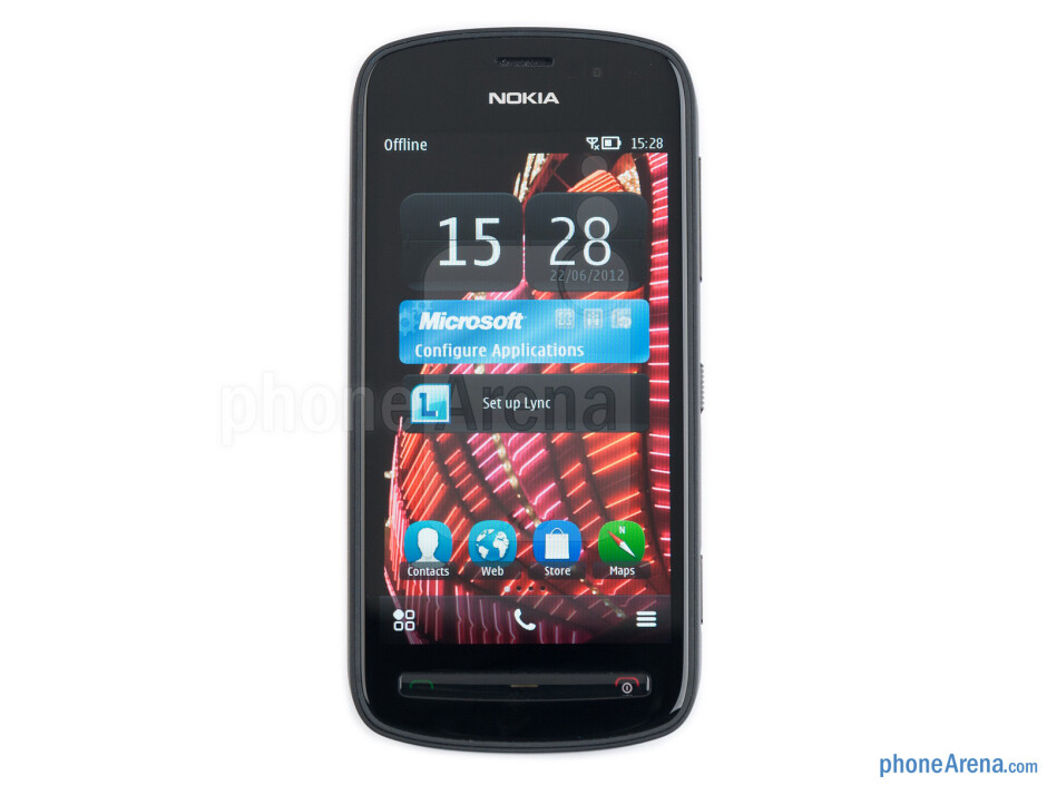 """The 4"""" AMOLED screen on the Nokia 808 PureView - Nokia 808 PureView Review"""