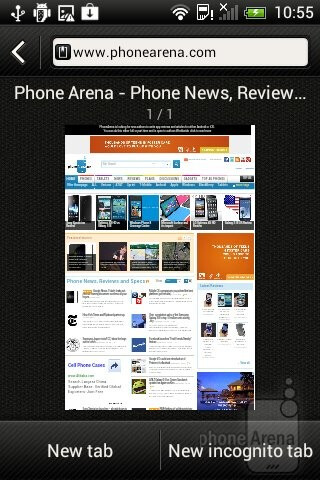 Web browsing on the the HTC Desire C - HTC Desire C Review