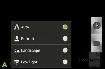 Camera interface - HTC Desire C Review
