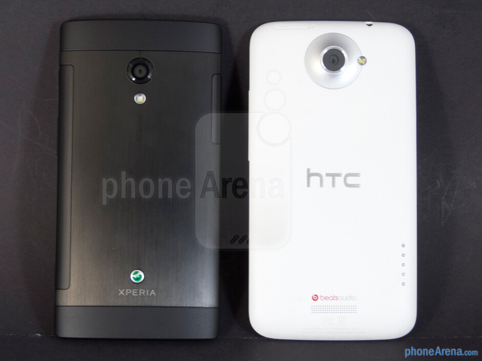 Backs - The Sony Xperia ion (left) and the HTC One X (right) - Sony Xperia ion vs HTC One X