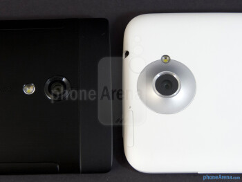 Rear cameras - The Sony Xperia ion (left) and the HTC One X (right) - Sony Xperia ion vs HTC One X