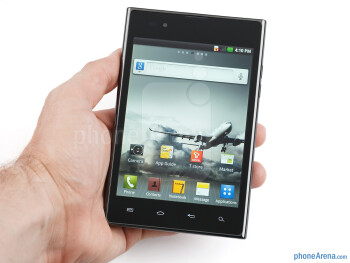 You'll need your two hands to operate the LG Optimus Vu - LG Optimus Vu Review