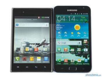 The LG Optimus Vu (left, bottom) and the Samsung Galaxy Note (right, top) - LG Optimus Vu Review