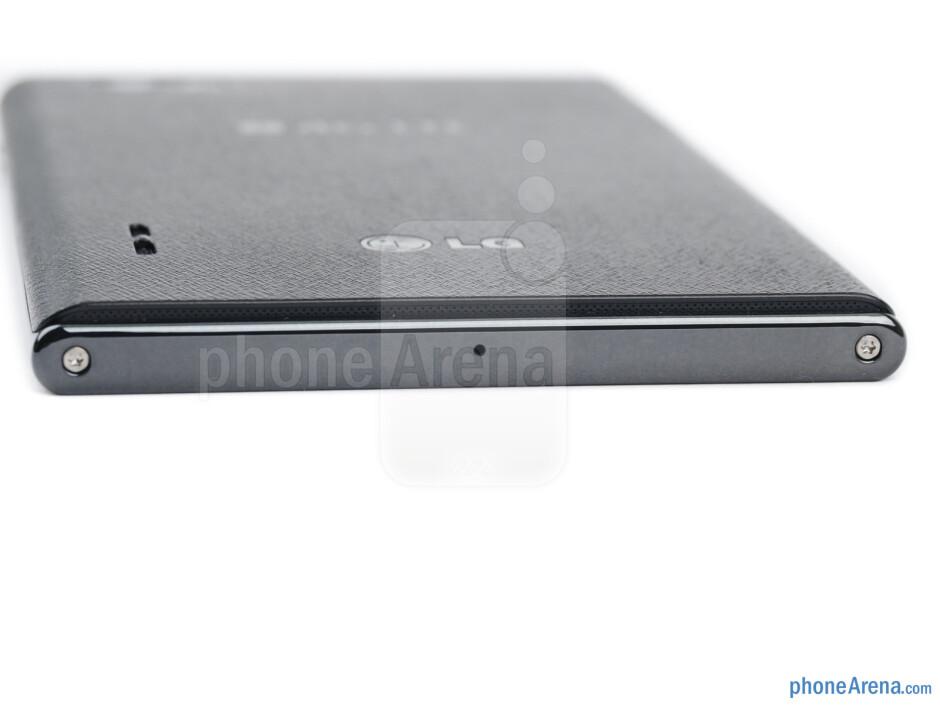 Bottom - The sides of the LG Optimus Vu - LG Optimus Vu Review