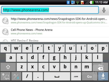 On-screen keyboard - LG Optimus Vu Review