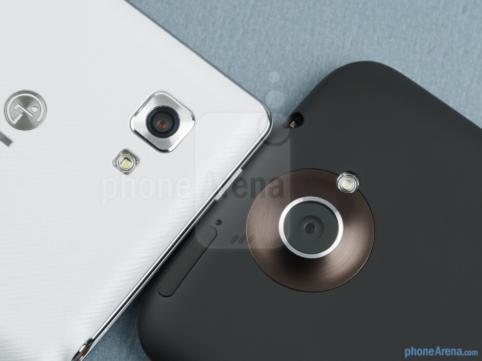 Rear cameras - The LG Optimus 4X HD (left) and the HTC One X (right) - LG Optimus 4X HD vs HTC One X