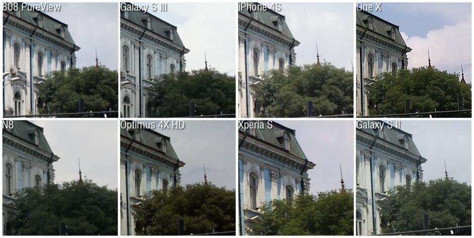 100% crops - Nokia 808 PureView camera comparison