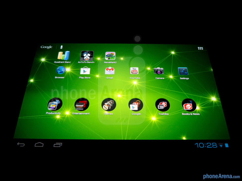 Viewing angles - Toshiba Excite 7.7 Review