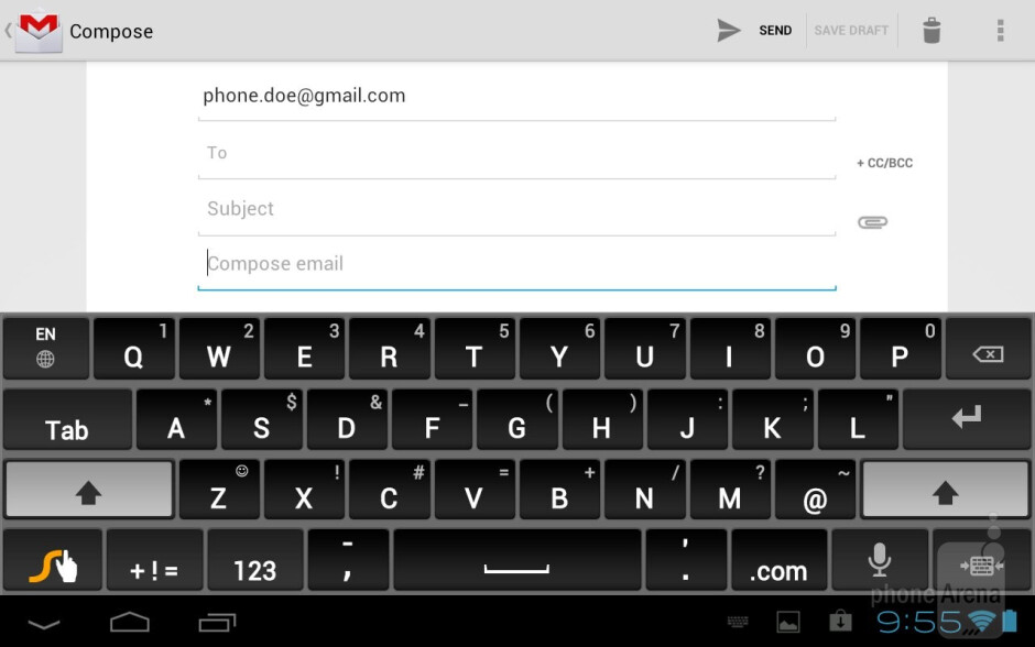 Virtual keyboards - Toshiba Excite 7.7 Review