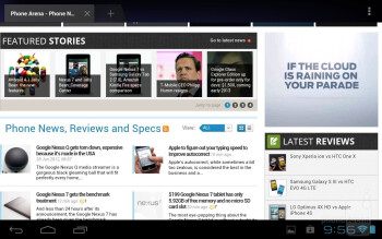 Web browsing - Toshiba Excite 7.7 Review