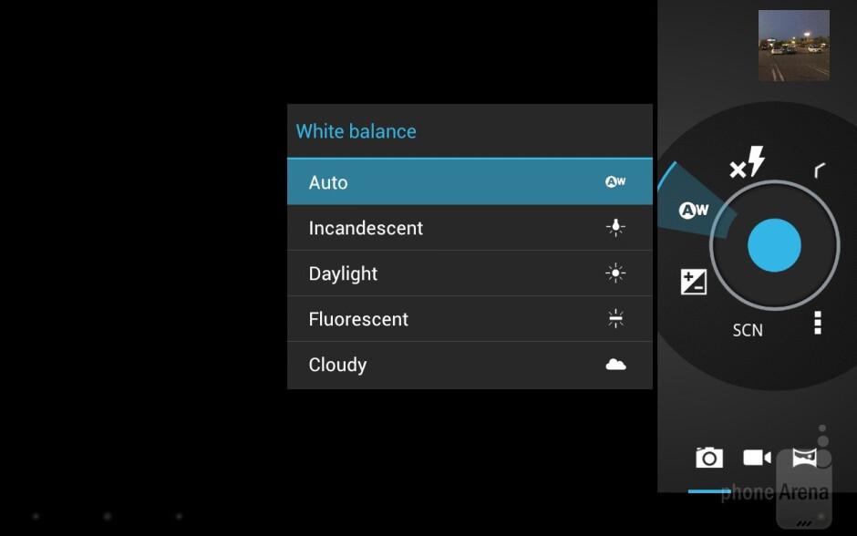 Camera interface - Toshiba Excite 7.7 Review