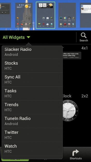 The UI of the HTC DROID Incredible 4G LTE has many options and personalizations - HTC Droid Incredible 4G LTE Review