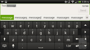 On-screen QWERTY keyboard - HTC Droid Incredible 4G LTE Review