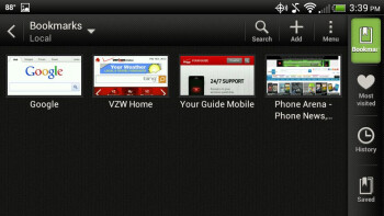 Surfing the web with the HTC DROID Incredible 4G LTE - HTC Droid Incredible 4G LTE Review