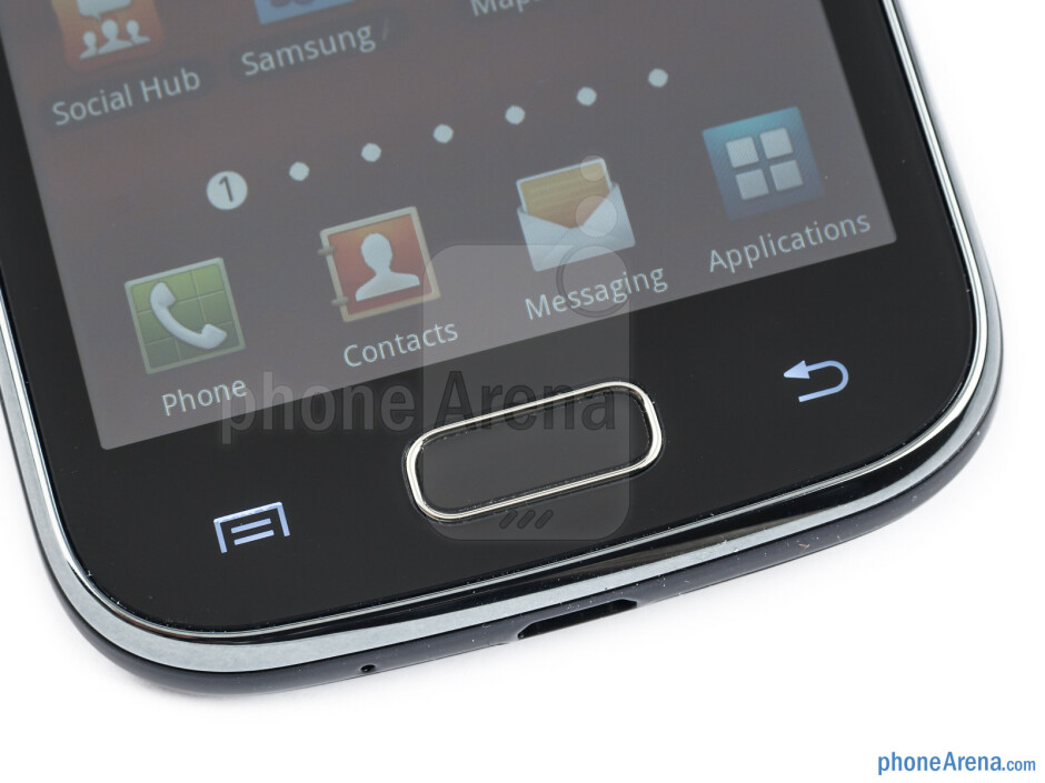 Android buttons - Samsung Galaxy Ace 2 Review