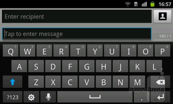Virtual keyboard - Samsung Galaxy Ace 2 Review