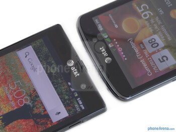 The Sony Xperia ion (left) and the LG Nitro HD (right) - Sony Xperia ion vs LG Nitro HD