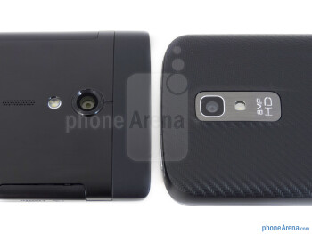 Rear cameras - The Sony Xperia ion (left) and the LG Nitro HD (right) - Sony Xperia ion vs LG Nitro HD