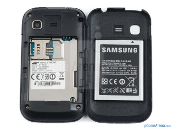 Battery compartment - Samsung Galaxy Pocket Review
