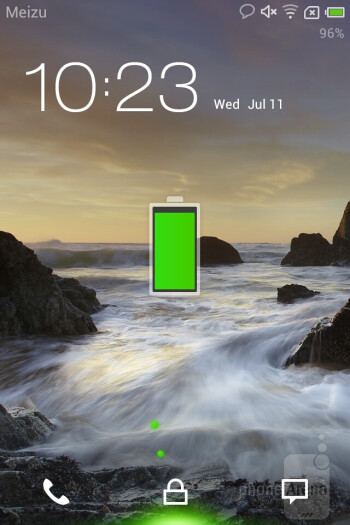 Android 4.0.3 Ice Cream Sandwich is what runs on the Meizu MX - Meizu MX Review