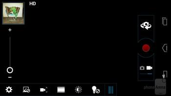 Camera interface - Motorola ATRIX HD Review