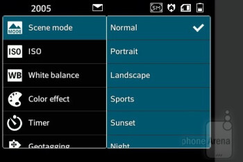 Camera interface - LG Optimus L5 Review