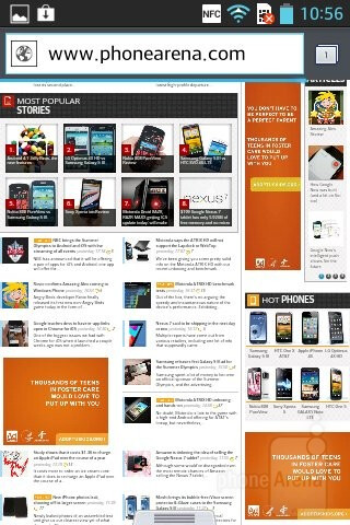 Web surfing with the LG Optimus L5 - LG Optimus L5 Review