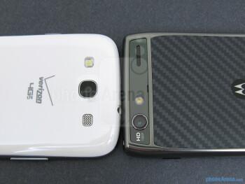 Rear cameras - The backs of the Samsung Galaxy S III (left) and the Motorola DROID RAZR MAXX (right) - Samsung Galaxy S III vs Motorola DROID RAZR MAXX