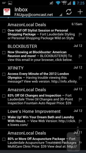 Motorola DROID RAZR MAXX - E-Mail programs - Samsung Galaxy S III vs Motorola DROID RAZR MAXX